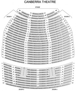 Canberra Theatre Seating Map