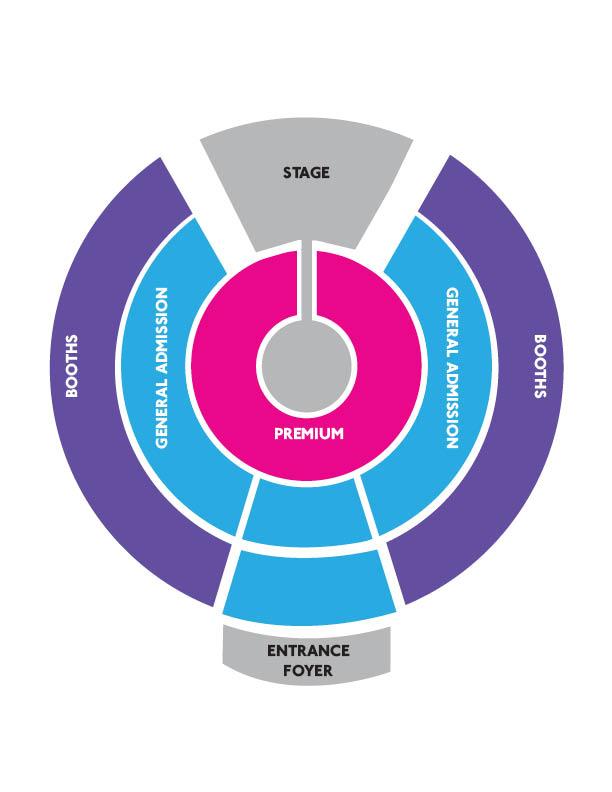Fortuna Spiegeltent-seatingplan