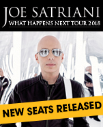 Joe Satriani – What Happens Next Tour 2018