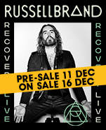 Russell Brand – Recovery LIVE, Saturday 29 February 2020