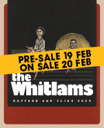 The Whitlams: Gaffage and Clink 2020 featuring Ben Lee and Emily Wurramara, Thursday 27 August 2020